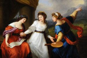 Angelica Kauffmann Zelfportret – Aarzeling tussen muziek en schilderkunst, 1791